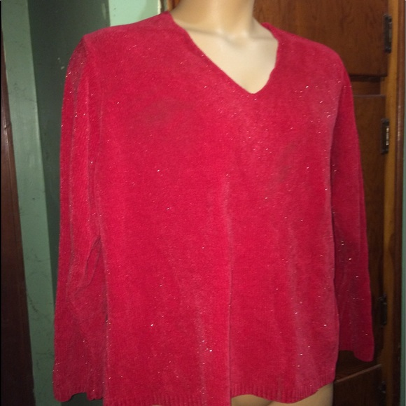Sweaters - Sparkly Red Sweater